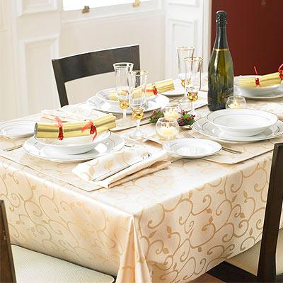 Muebles y decoraci n de interiores los manteles para la - Manteles de mesa de comedor ...
