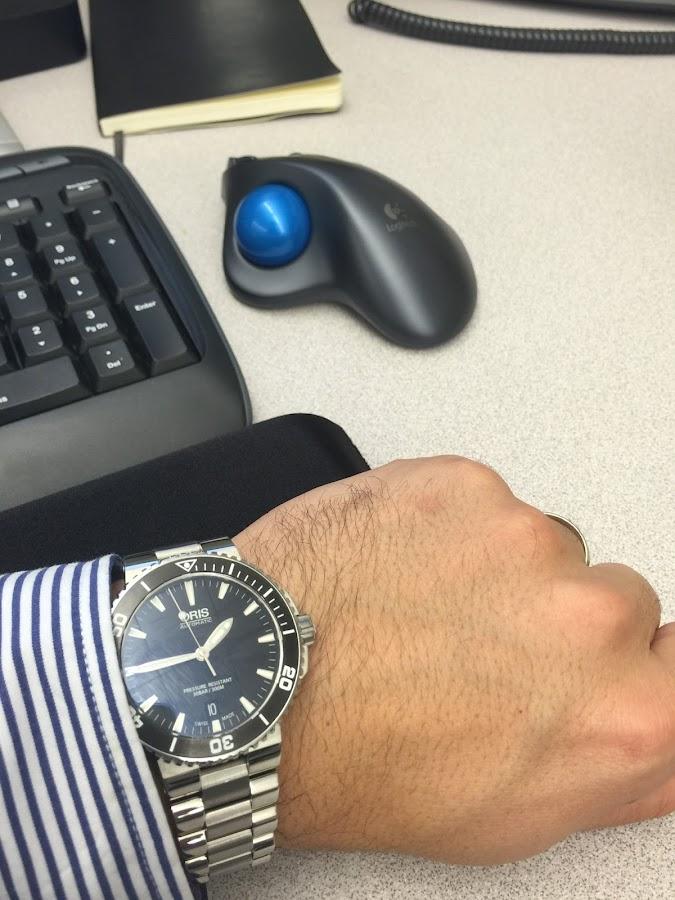 Oris Aquis Date 43 mm Steel Men's Watch 733-7653-4154MB - Aquis - Oris ...