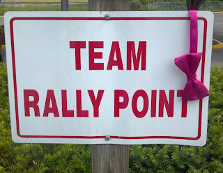 sign that says team rally point
