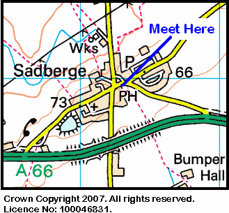 Map of the Sadberge area