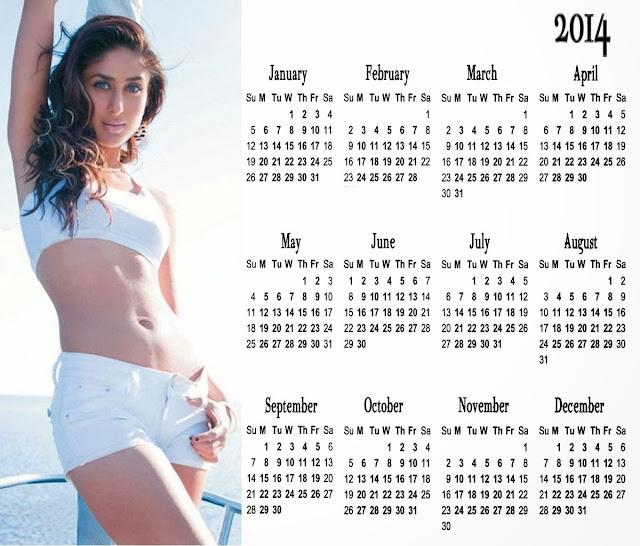 karina kapoor bikini image for 2014 calendar