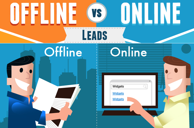 Image: The Differences Between Online And Offline Leads