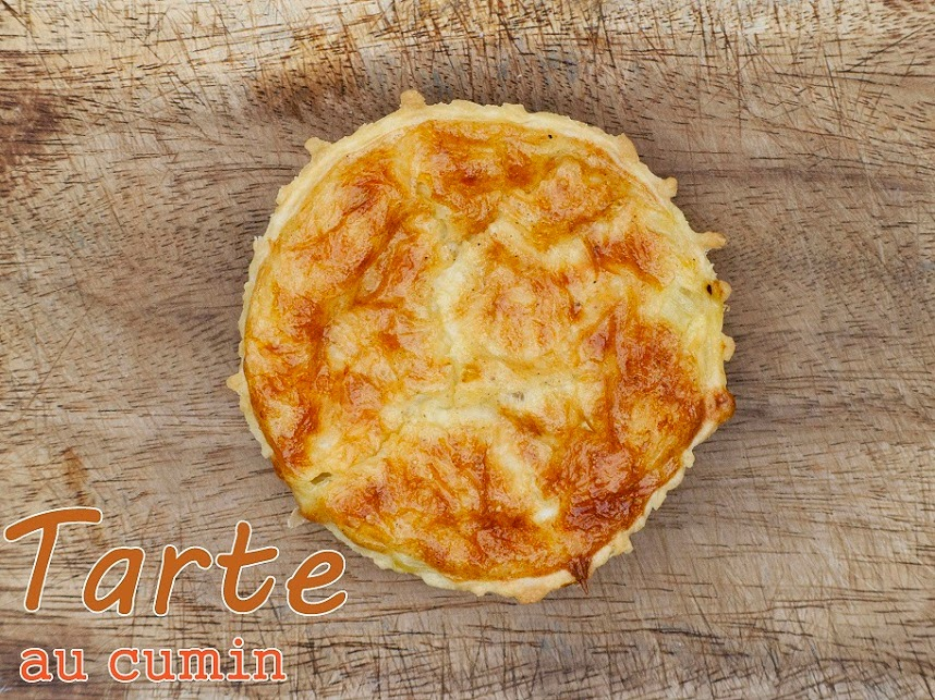 tarte cumin, tarte fromage; tarte facile; tarte oignons, tarte salée, idée tarte salée