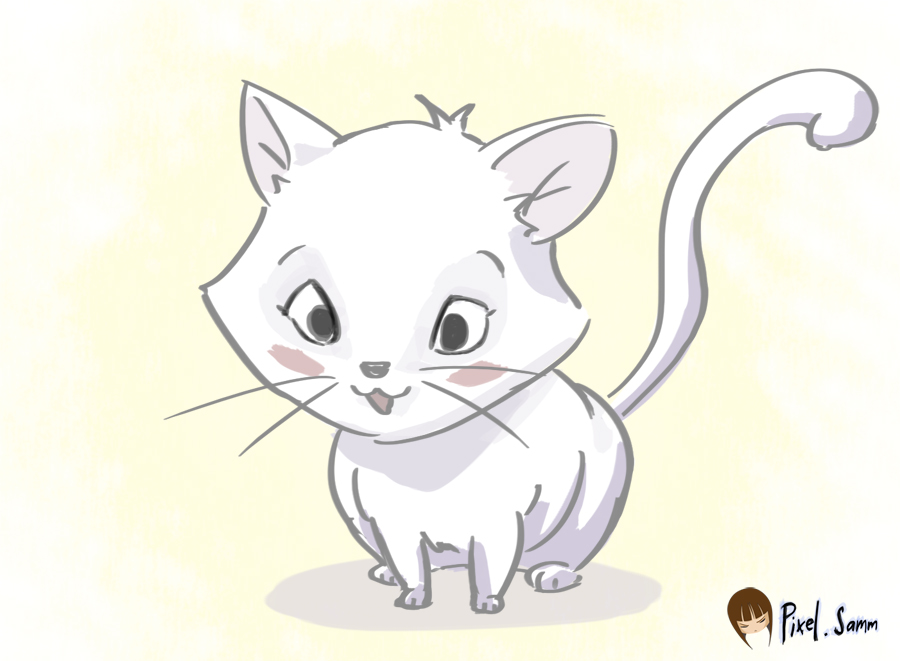 Download image Cute Kitten Drawings PC, Android, iPhone and iPad ...