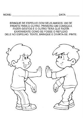 Atividades Infantis - Brincando de espelho
