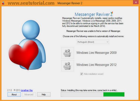 como não atualizar para o skype 2013 msn 2009