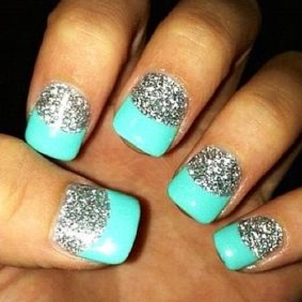 Teal-Acrylic-Nail-Designs - Lucaszing: Teal-Acrylic-Nail-Designs