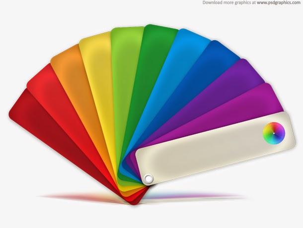 Color Palette Icon PSD