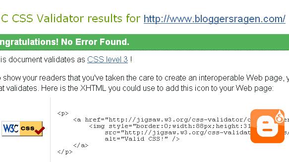 Cara Validasi CSS