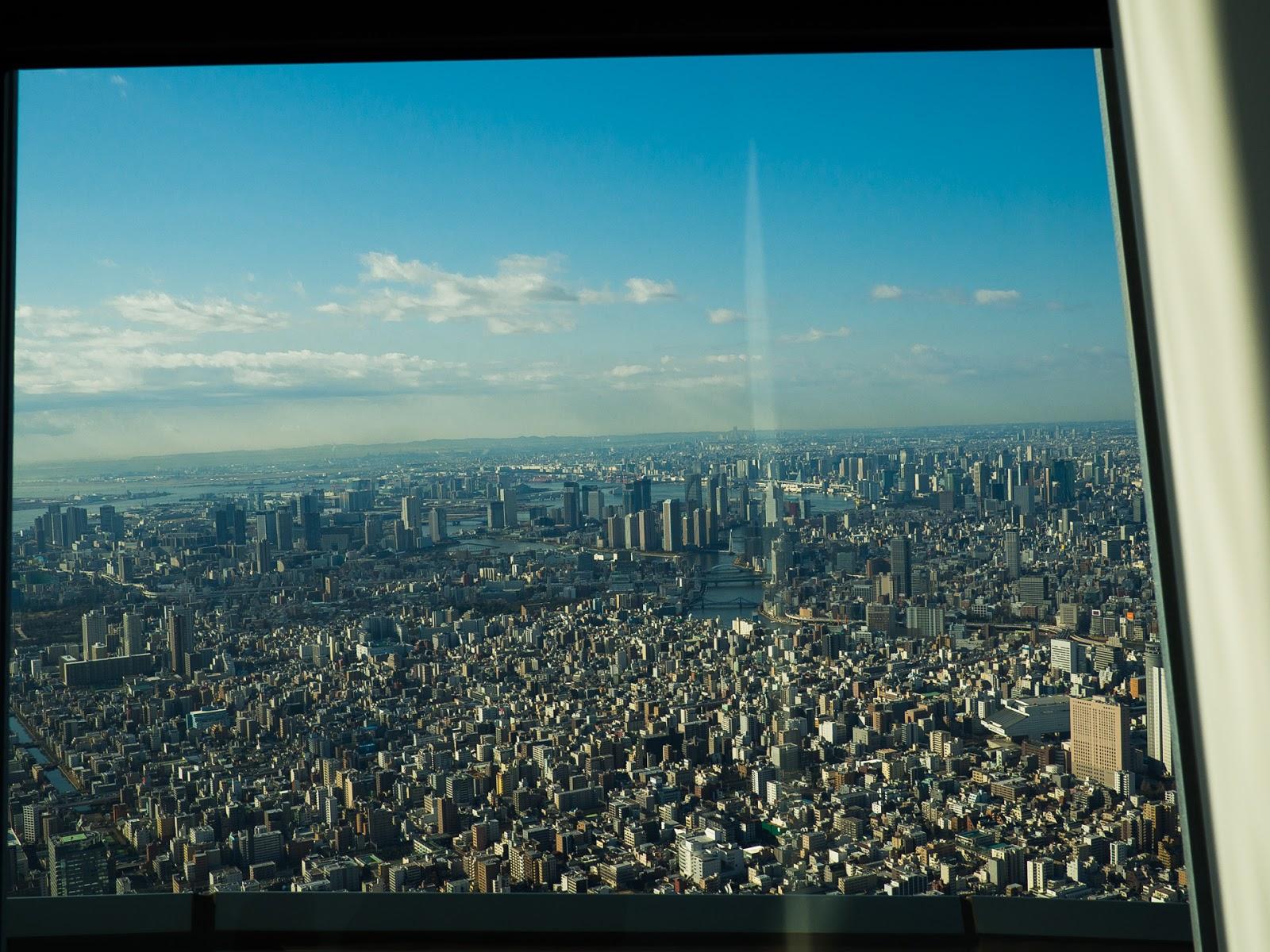 東京スカイツリー展望回廊から、南南西(銀座方面)の風景