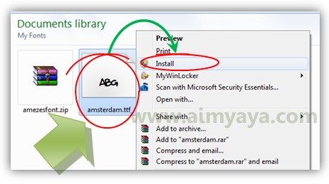 Gambar: Cara install font amsterdam graffiti di windows 8/7/Vista