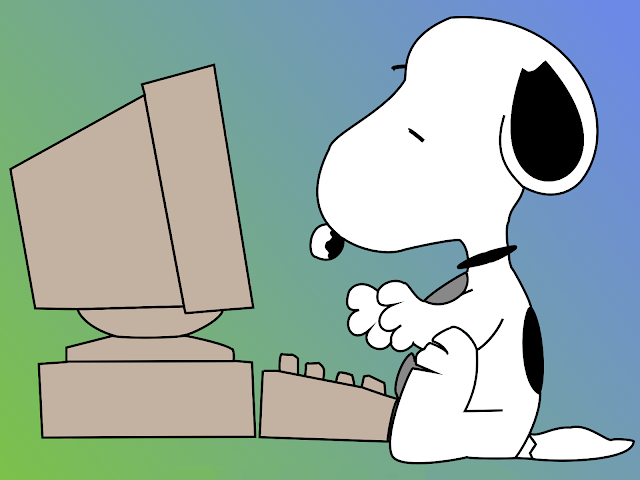 Wallpaper Snoopy con ordenador