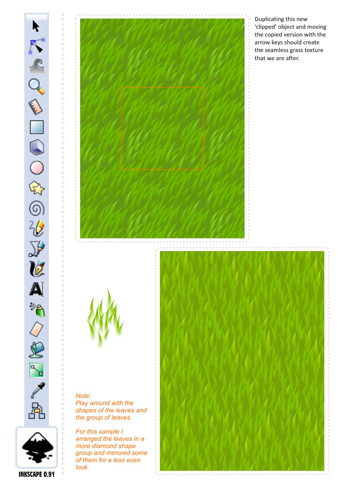inkscape how to create a pattern
