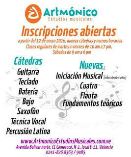¡AHORA  LOS TALLERES INTEGRALES DE MÚSICA ESTÁN EN ARTMÓNICO!