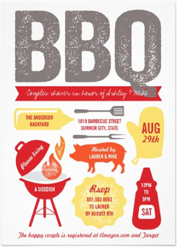 http://www.zazzle.com/bbq_barbecue_couples_shower_summer_cookout_party_invitation-161847429135528073?rf=238845468403532898