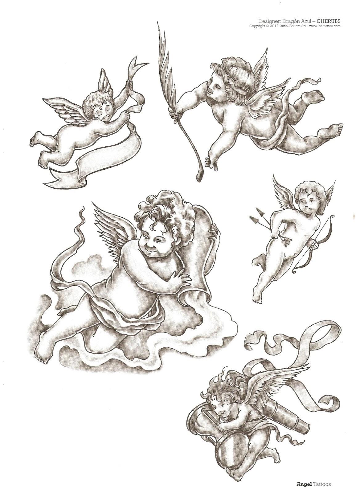 leles tattoo 230 desenhos tatuagens de anjos. Black Bedroom Furniture Sets. Home Design Ideas