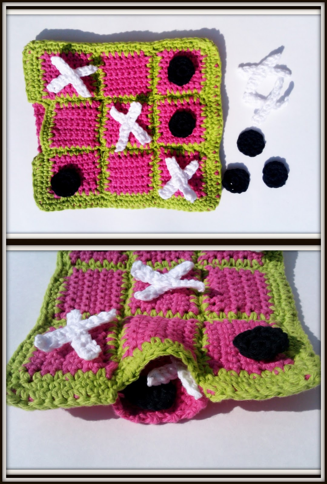 Crocheting Games : Double Treble Craft Adventures: Crochet Tic Tac Toe Game