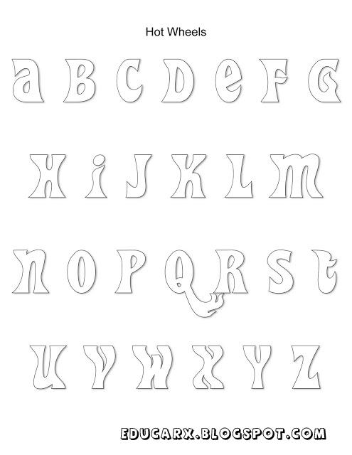 Modelo de letras hot whees