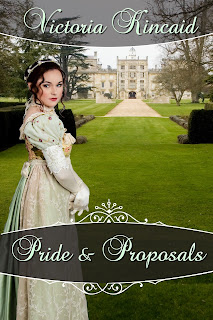 Book cover:Pride and Proposals by Victoria Kincaid