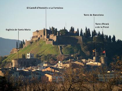 El Castell d'Hostalric des de Cal Valentí