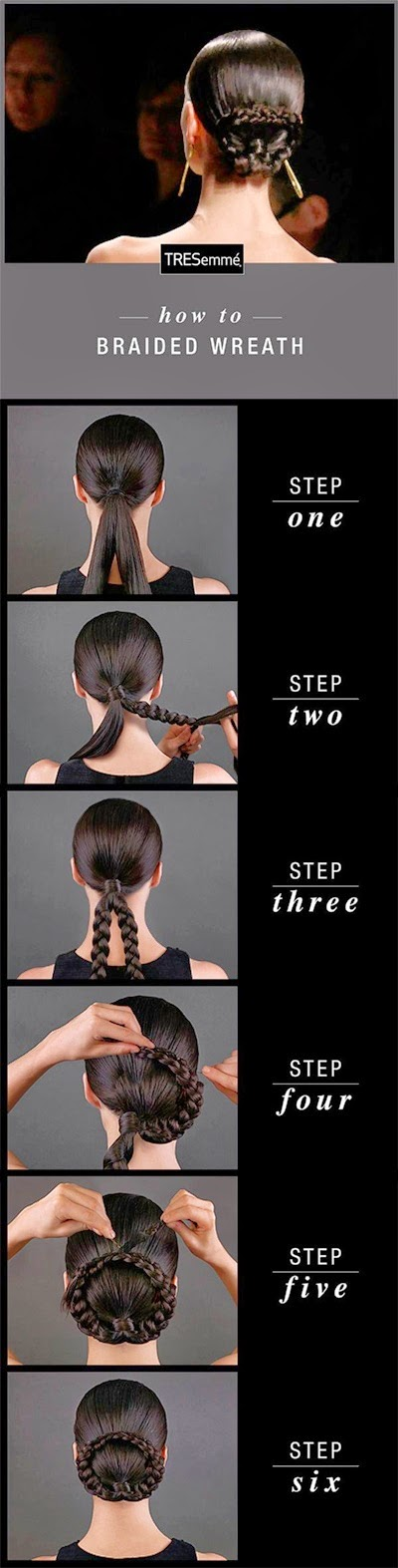 Cute hairstyle:Braided Wreath