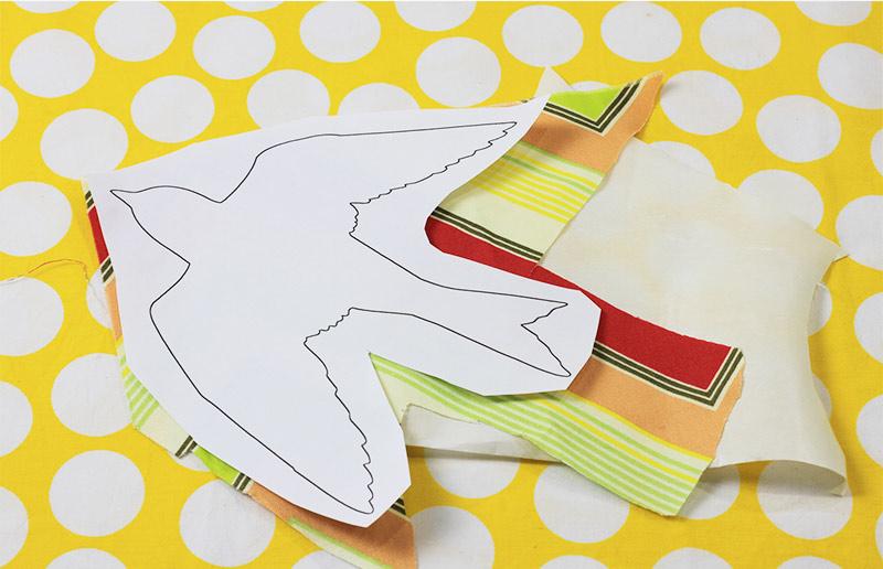 Faça-você-mesma: tutorial para adesivo de parede de tecido - passo1