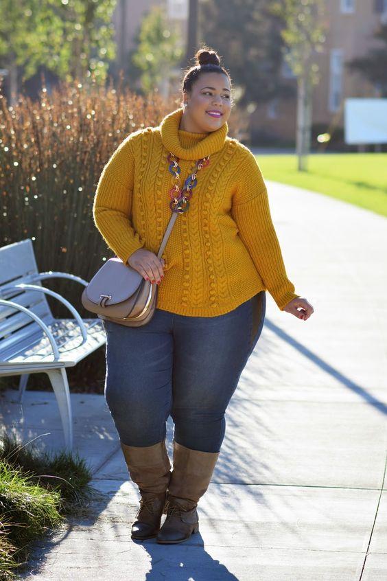 Ideas de moda otoño para gorditas