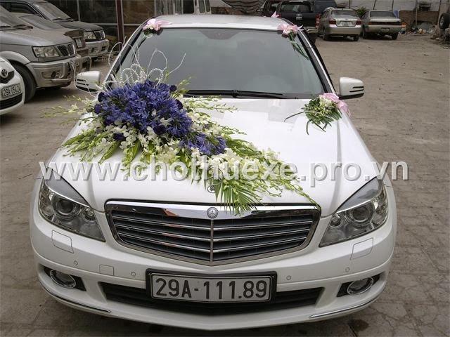 Mẫu hoa xe cưới đẹp mã XH 014 giá 1,4 triệu