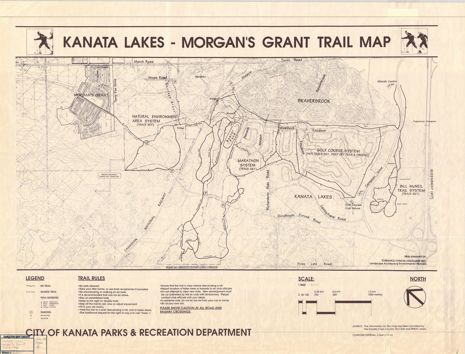 Richards GPS Trail Maps South March Highlands Kanata Lakes Trails