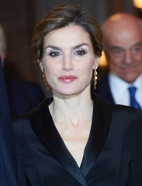 King Felipe VI of Spain and Queen Letizia of Spain attend the 'Francisco Cerecedo' journalism award