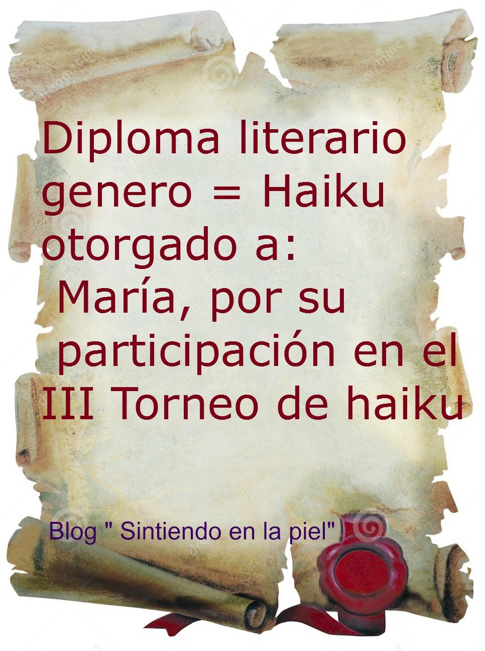 Diploma Literario de Haikus