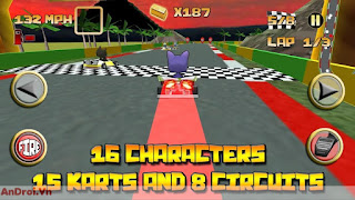 wapvip.pro-Game Android Đua Xe »Game Kartoon Crazy Racing