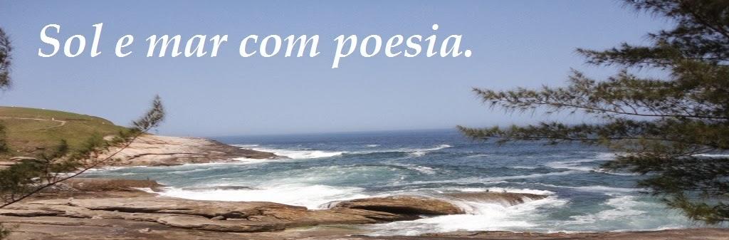 Sol e mar com poesia