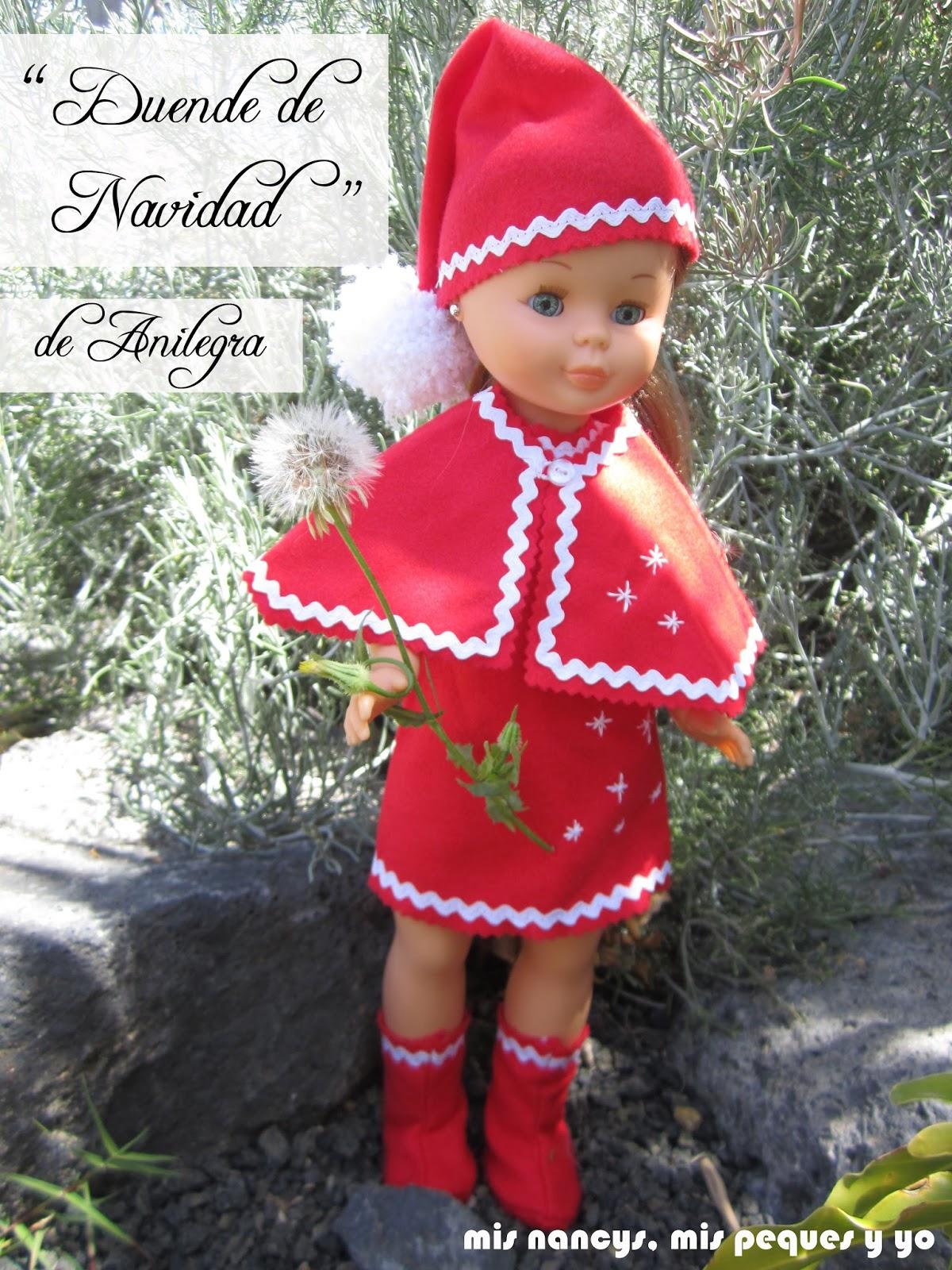mis nancys, mis peques y yo, disfraz duende de navidad nancy