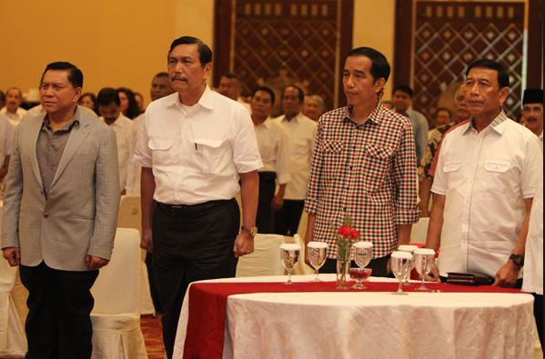 Jokowi dibacking dengan para jendral militer indonesia