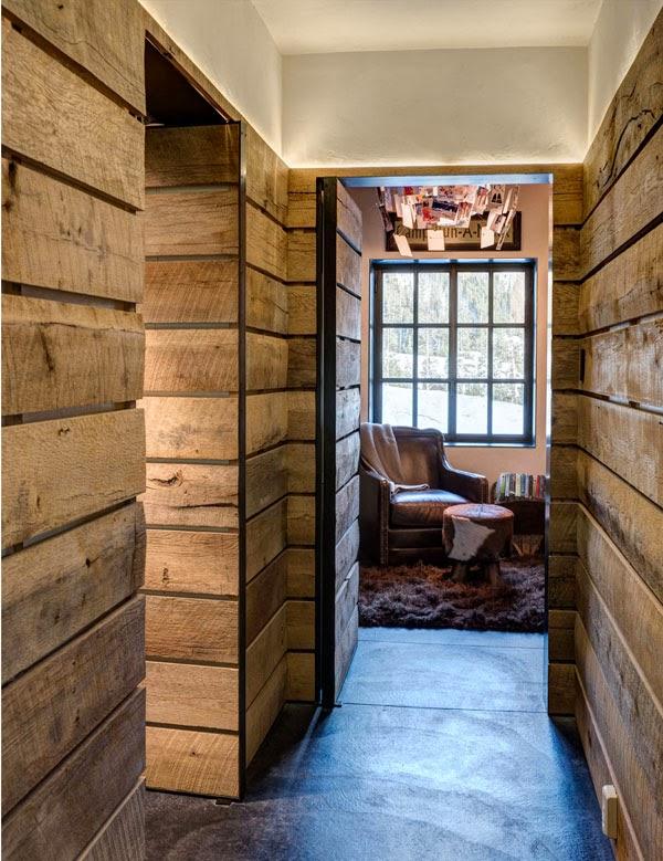Estilo rustico muros rusticos de madera rustic wood wall - Muro de madera ...