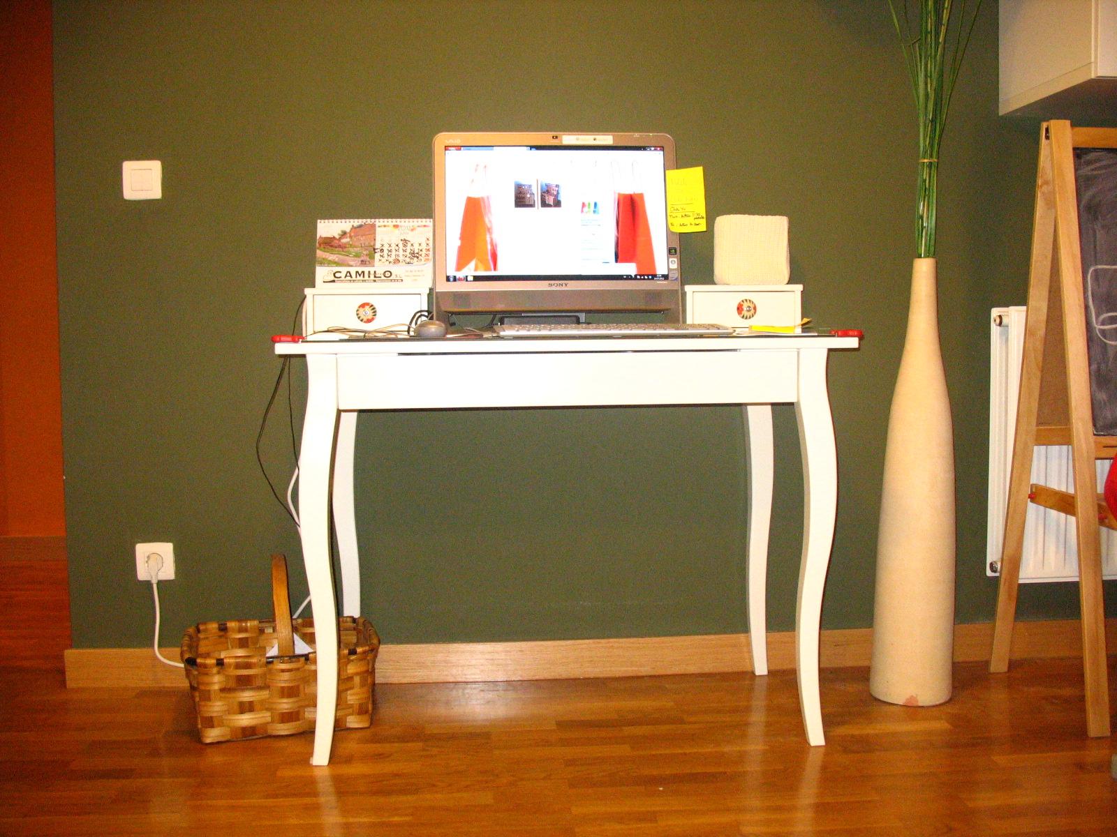 De tocador a mesa de pc mi llave allen - Como hacer una mesa de ordenador ...