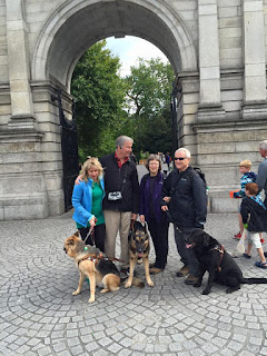 Gena, Mike, Sue and Bob Sweetman at St. Stephens Green