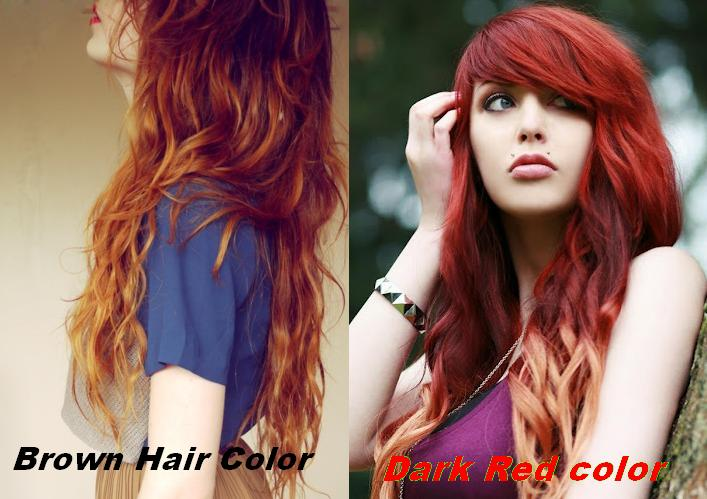 Different Red Shades for Brown Hair Color