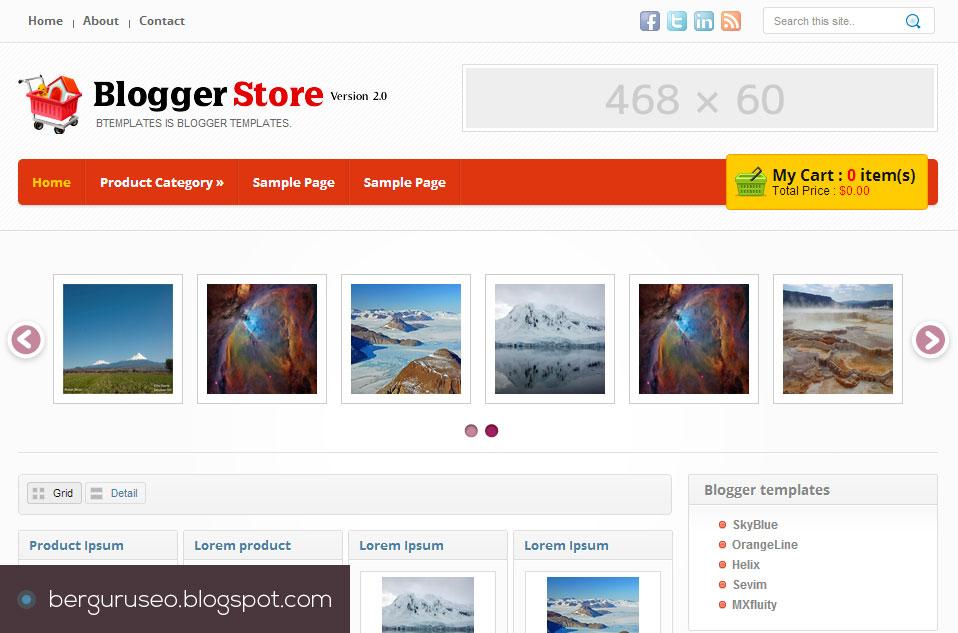 Template Blog Toko Online Blogger Store v.2