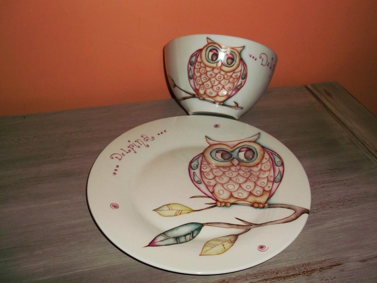 Cenefa a rayas estilo porcelana