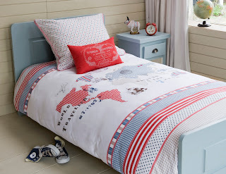 Children's Bedding - Room Seven World Map Bedding