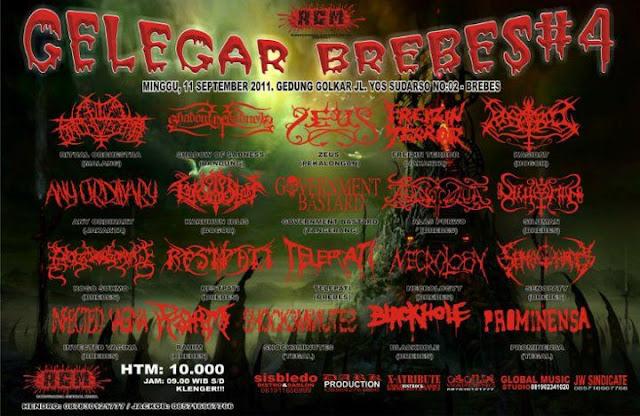 Acara acara metal underground indonesia - Flayer Famlet GELEGAR BREBES #4