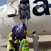 Photo: AERO Airline disembark passengers with ladder