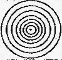 центральный элемент саквала чакрая семь концентрических кругов с точкой внутри