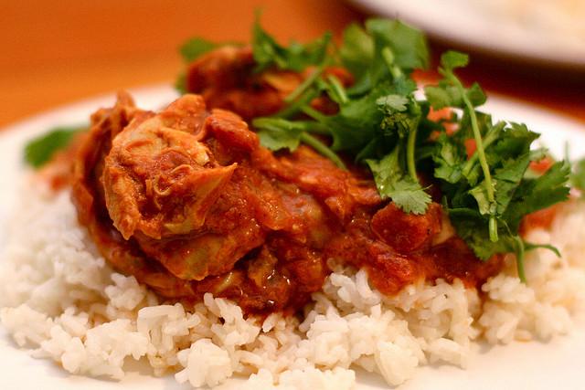 Hoender Tamatie Bredie Chicken Tomato Stew photo by David Lifson