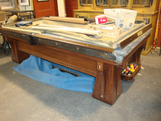Black dog salvage architectural antiques custom for Brunswick pool tables