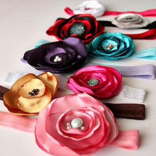 Baby Girl Headbands by Tricia @ SweeterThanSweets