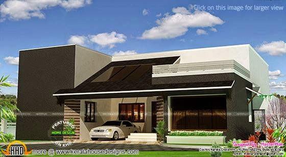 Modern single storied home rendering