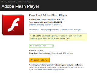 Screenshot 2 Adobe Flash Player in Ubuntu 11.04 | Two ways to Install